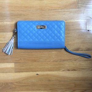 Spartina Sky blue clutch wallet